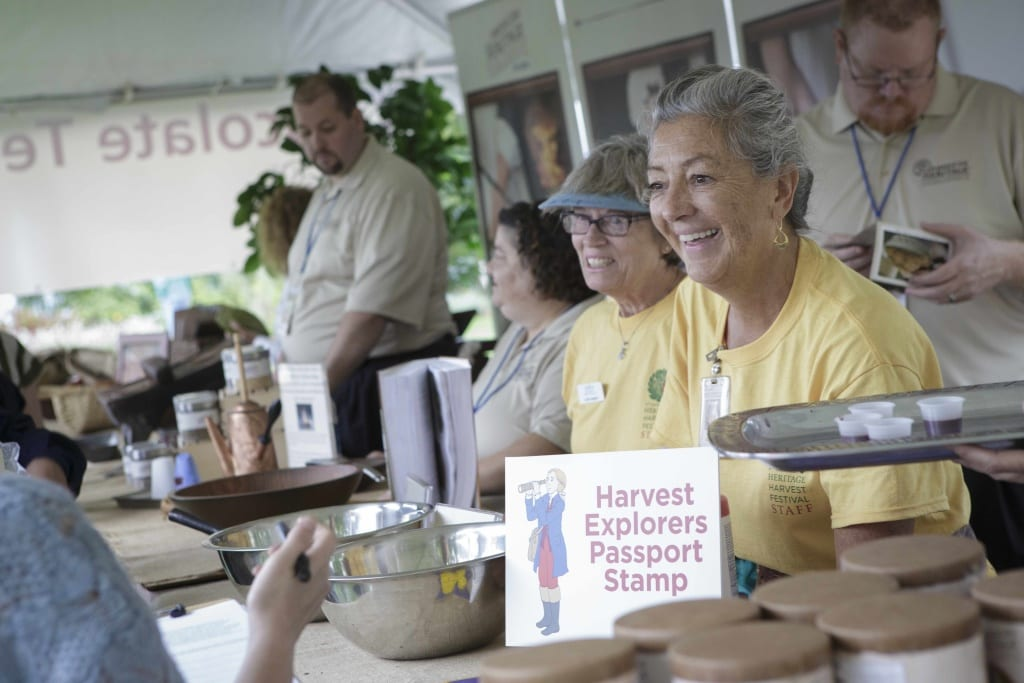 """The Heritage Harvest Festival at Monticello includes top speakers and activities for visitors of all ages. © Thomas Jefferson Foundation at Monticello."""""""